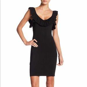 🔥 Bebe Black Ruffle Dress